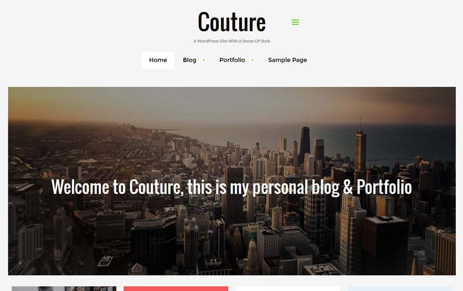 Couture Responsive WordPress Theme