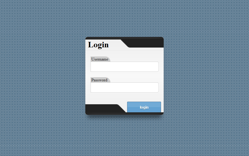 Experimental Login Form