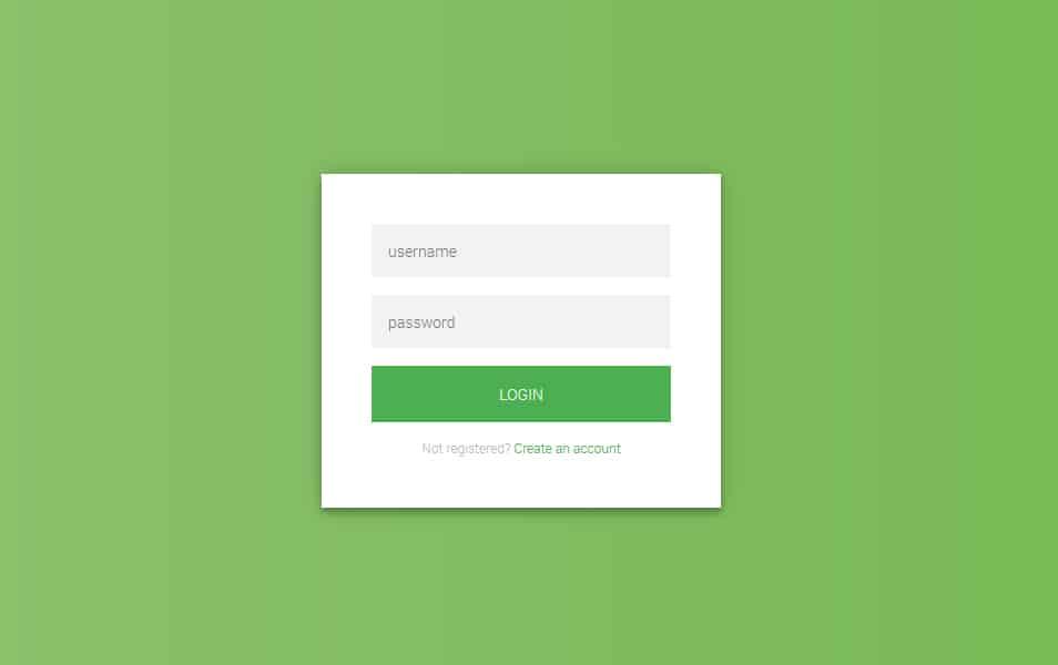 Flat HTML5/CSS3 Login Form