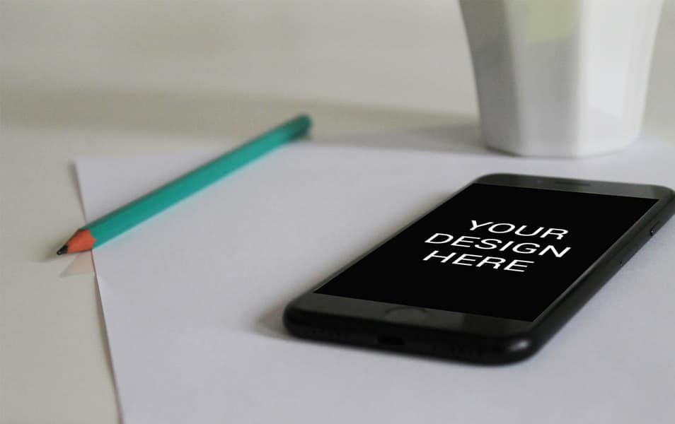 IPhone 6 on paper mockup