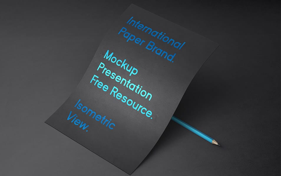 International Psd Paper Mockup