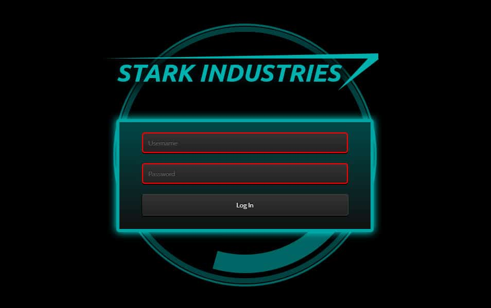 Iron Man Login Form