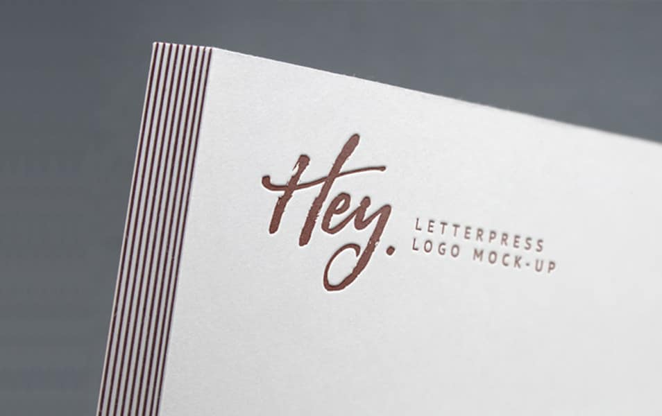 Letterpress Logo MockUp #2