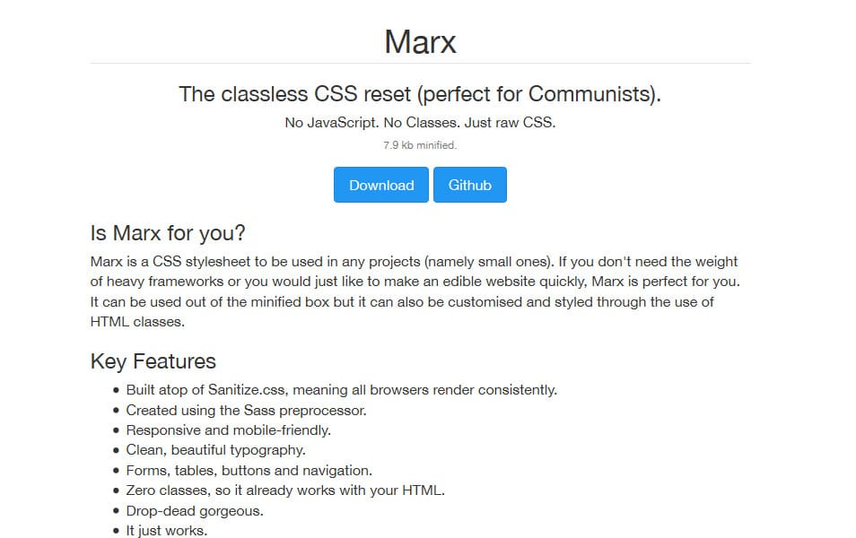 10 best css reset stylesheets css author marx is a css stylesheet to be used in any projects namely small ones if you dont need the weight of heavy frameworks or you would just like to make an malvernweather Images
