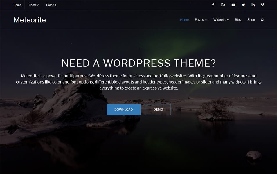 Meteorite Responsive WordPress Theme