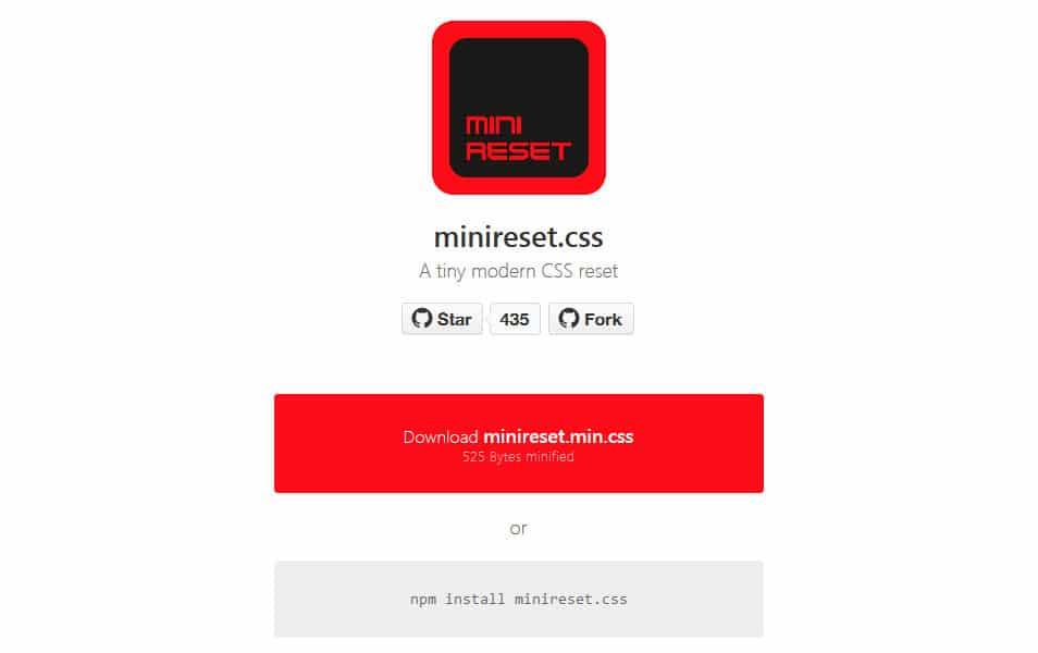 MiniReset.css
