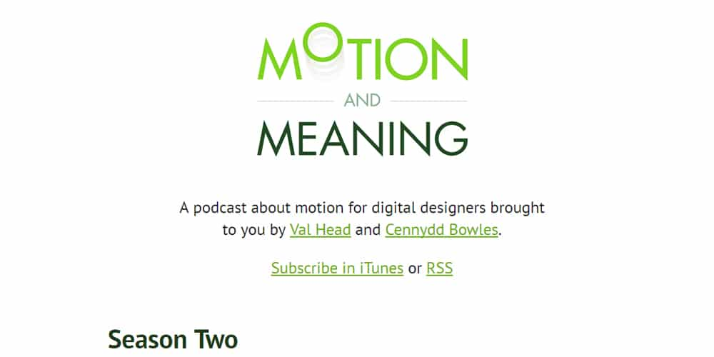 Motion and Meaning