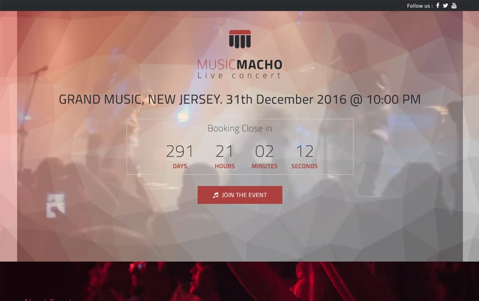 MusicMacho Responsive WordPress Theme