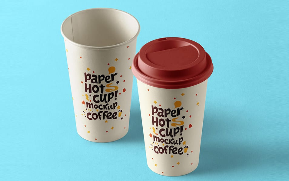 Psd Paper Hot Cup Template Vol9