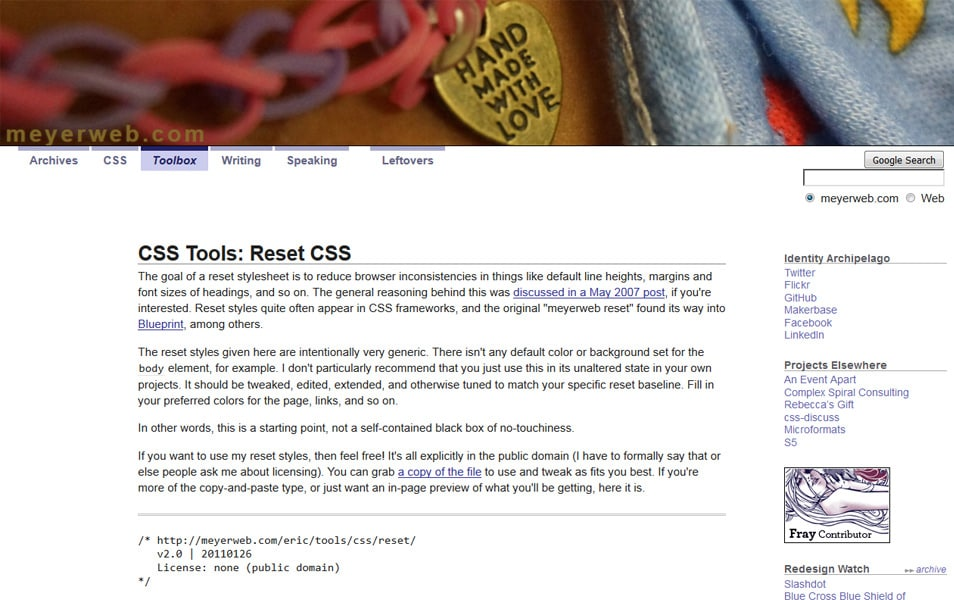 10 best css reset stylesheets css author for Css author