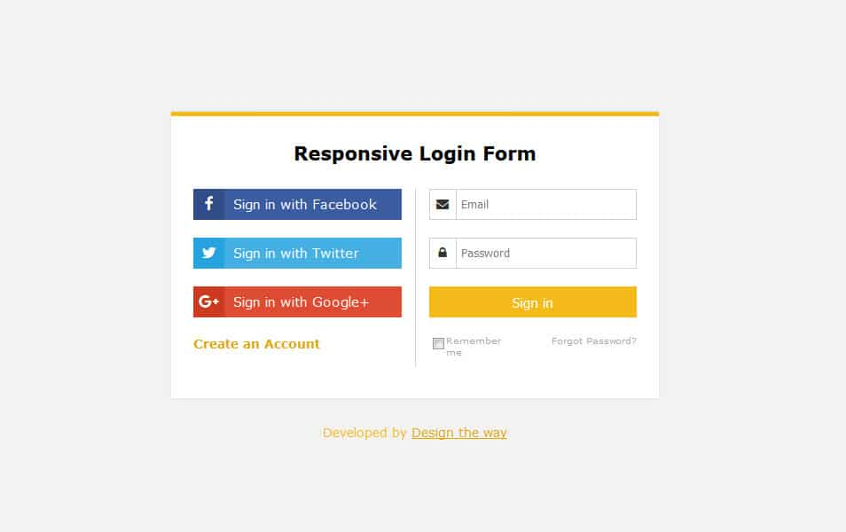 Responsive Login Form
