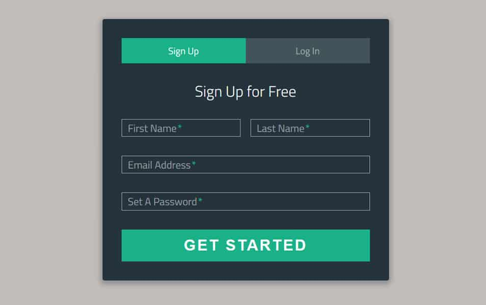 Sign-Up Login Form
