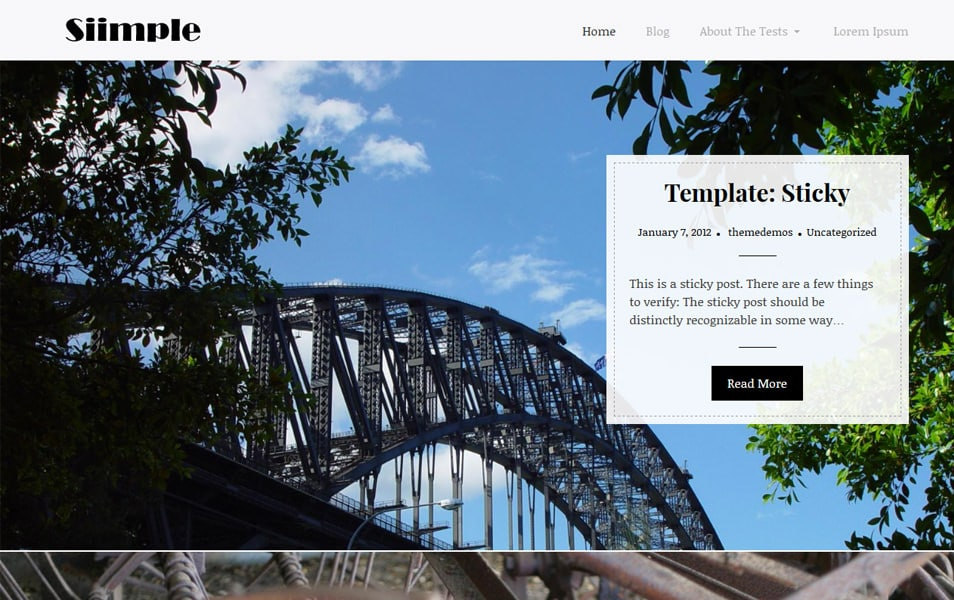 Siimple Responsive WordPress Theme