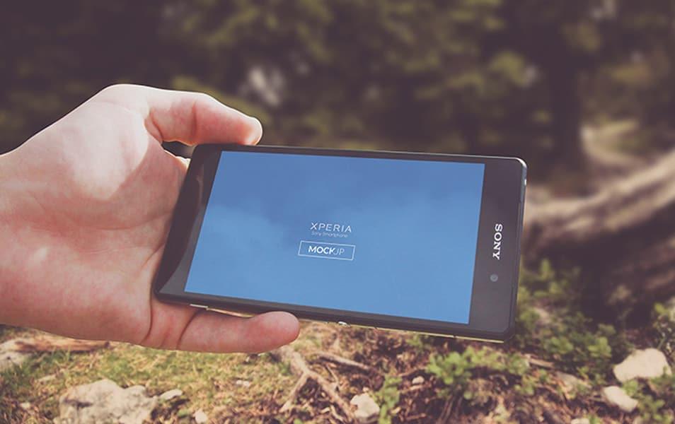 Sony Xperia mockup 03