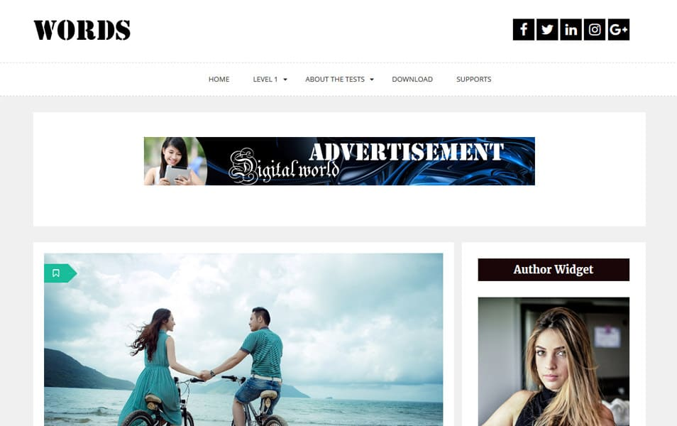 Words Responsive WordPress Theme