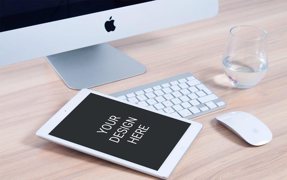 iPad with iMac Mockup