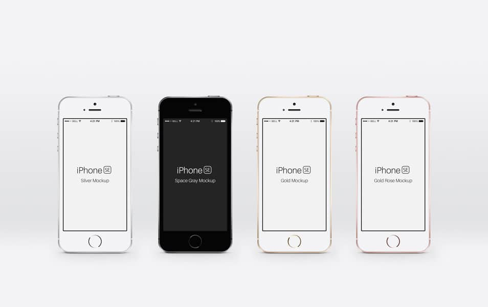 iPhone SE Psd Mockup