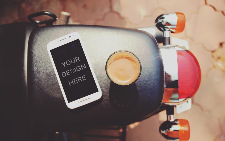iPhone on bike