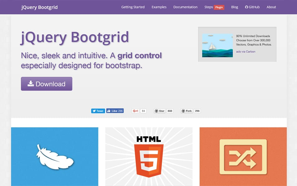 jQuery Bootgrid