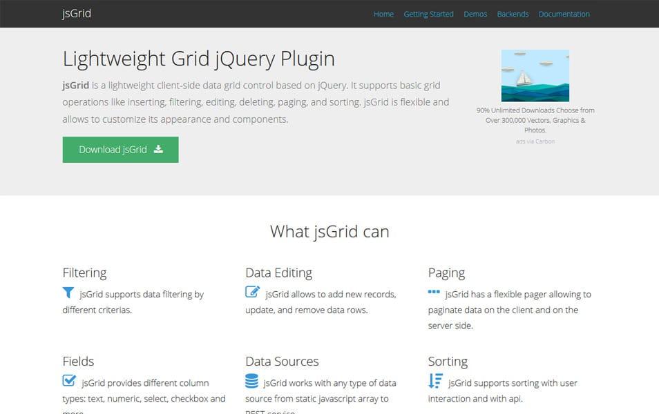 50+ Best JQuery Grid Plugins » CSS Author
