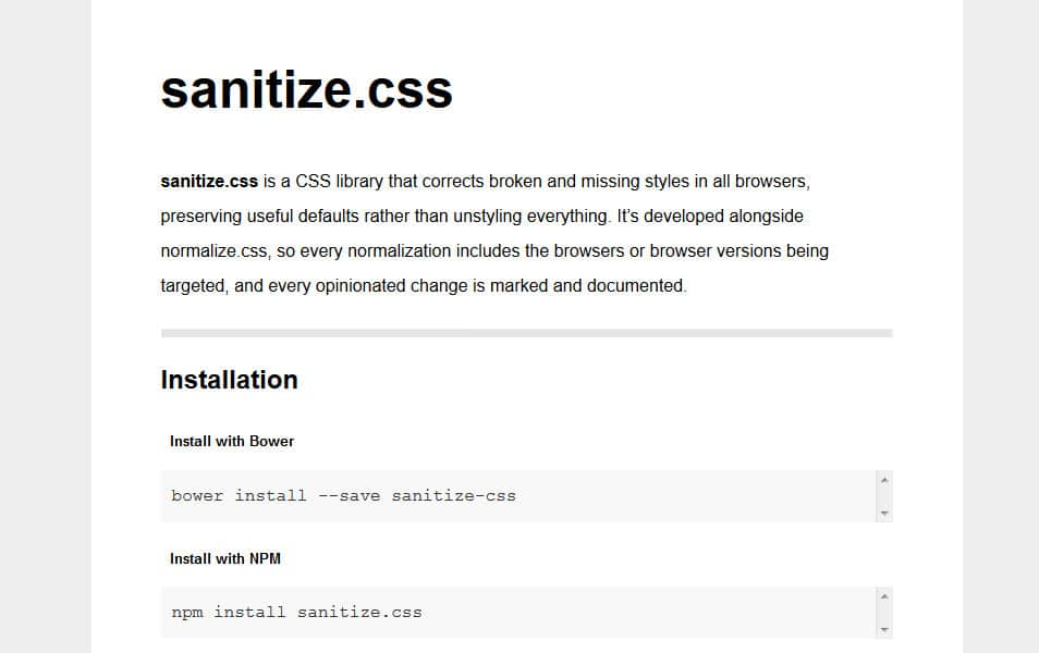10 best css reset stylesheets css author sanitizes malvernweather Images