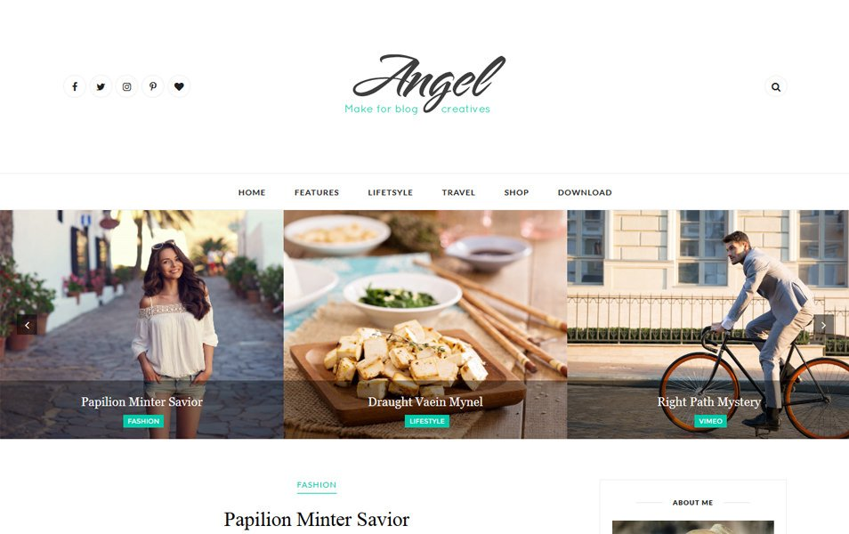Template Blogger Responsif Angel