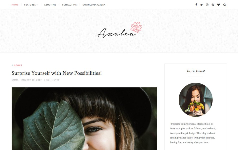 Azalea Responsive WordPress Theme