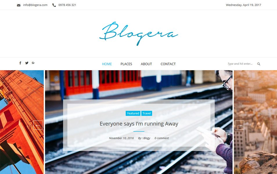 Blogera Responsive WordPress Theme