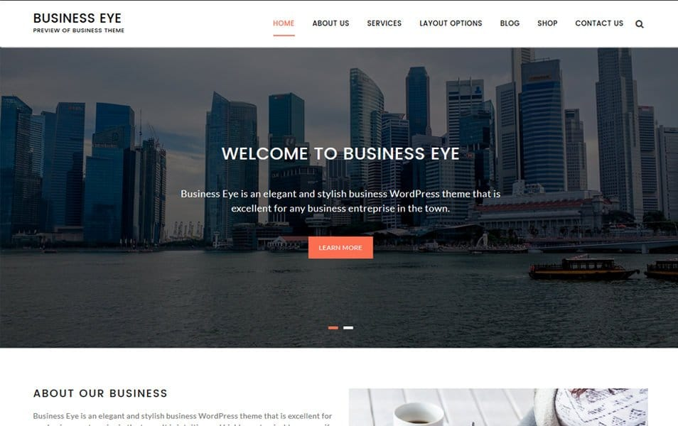 Business Eye Responsive WordPress Theme