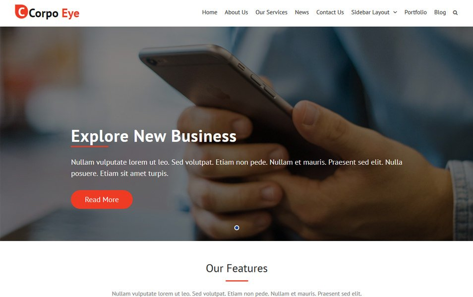 Corpo Eye Responsive WordPress Theme