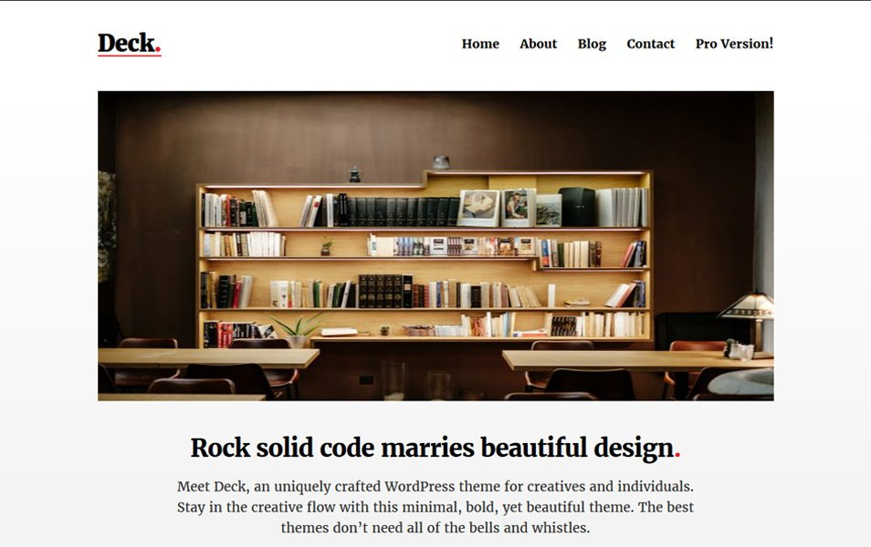 Deck Responsive WordPress Theme
