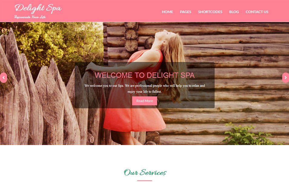 Delight Spa Responsive WordPress Theme