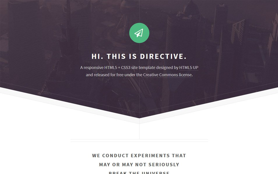 500 best free responsive html5 css3 website templates directive yelopaper Gallery
