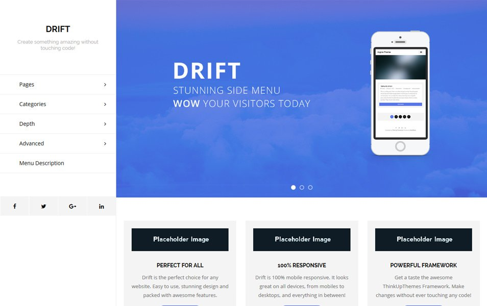Drift Responsive WordPress Theme