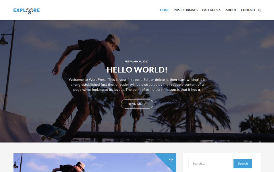 Exploore Responsive WordPress Theme