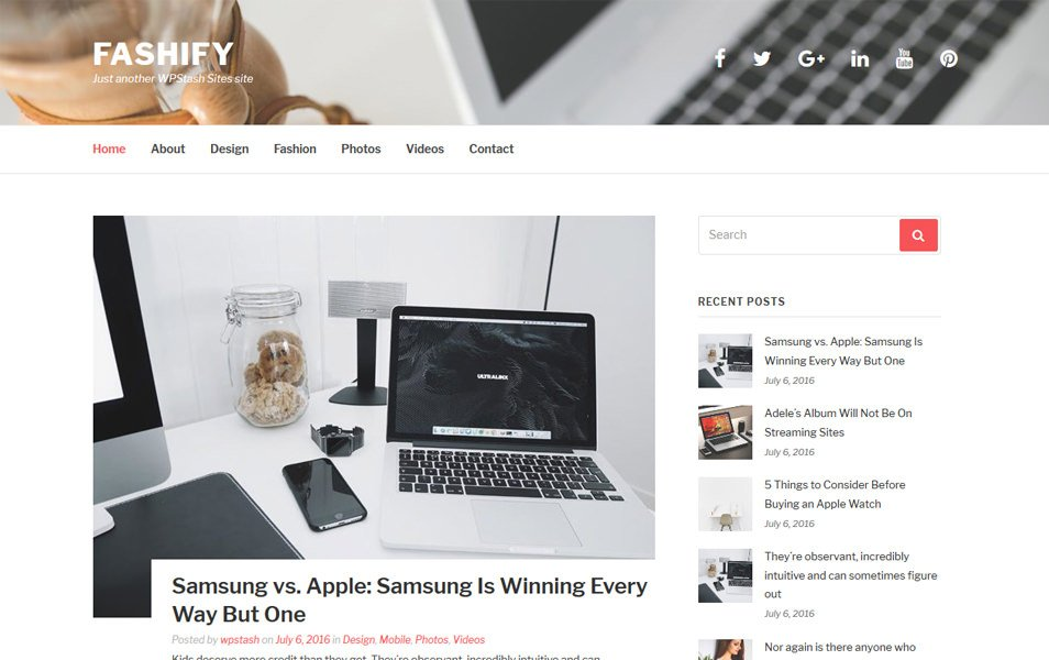 Fashify Responsive WordPress Theme