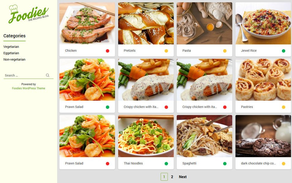 Foodies Responsive WordPress Theme