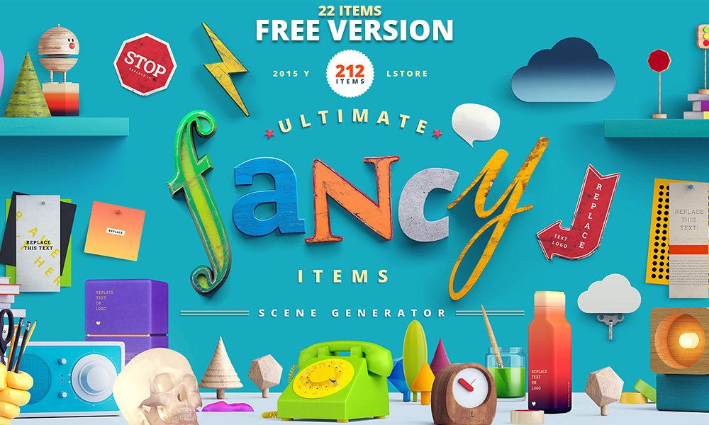Free Version of Fancy Items Scene Generator