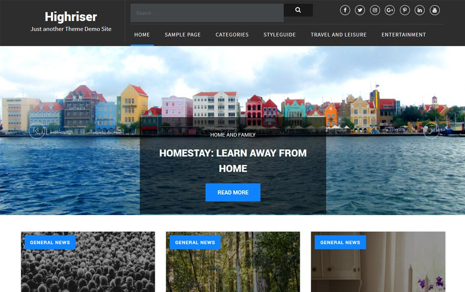 Highriser Responsive WordPress Theme
