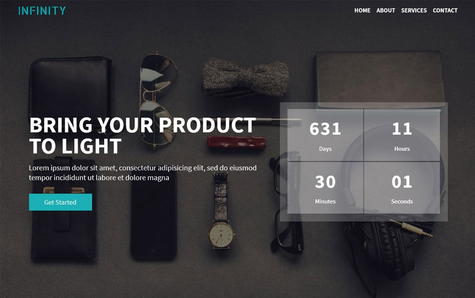 Infinity Free Bootstrap 4 Coming Soon Template