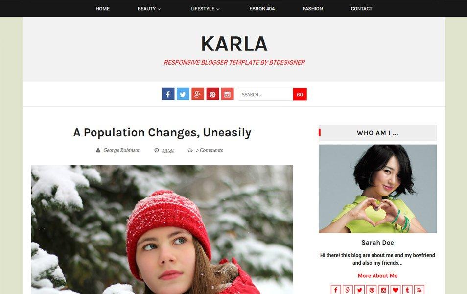 Karla Responsive Blogger Template