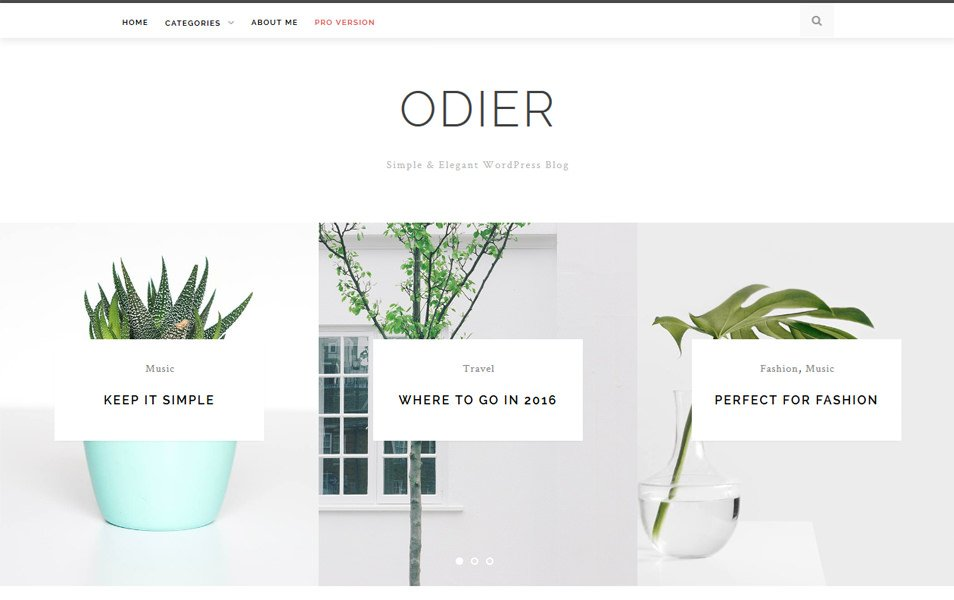 OdierLite Responsive WordPress Theme