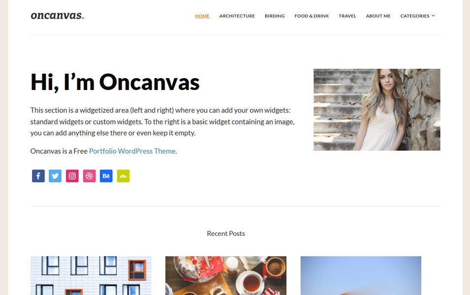 Oncanvas Responsive WordPress Theme
