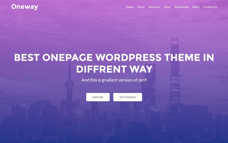 Oneway Responsive WordPress Theme