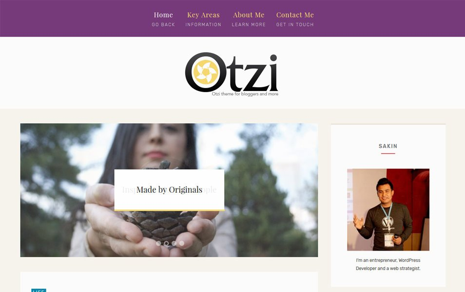 Otzi Lite Responsive WordPress Theme