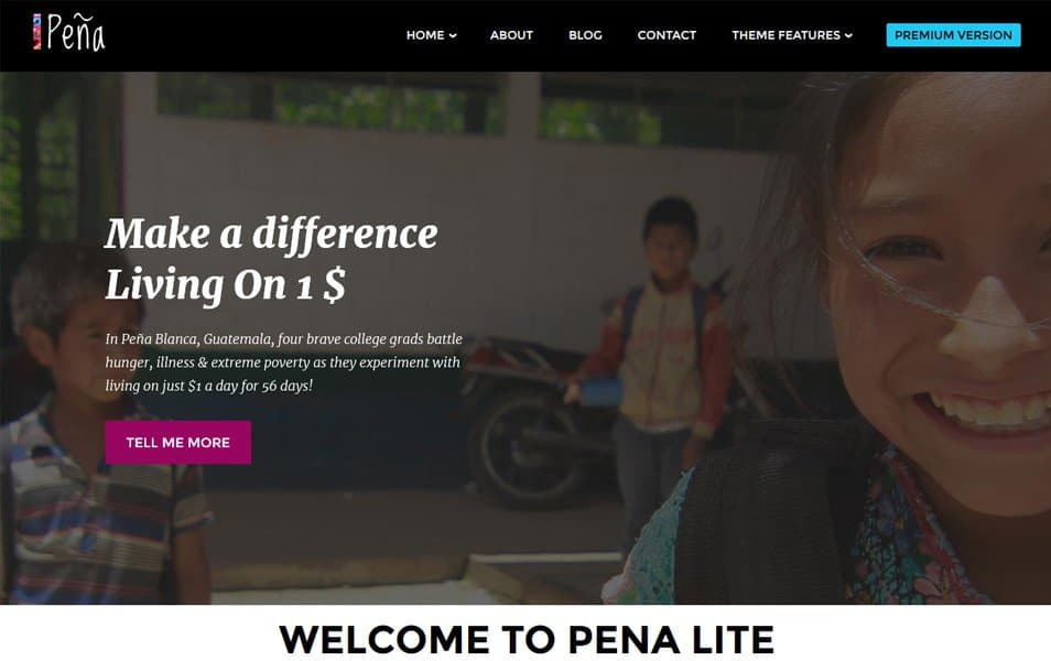 Pena Lite Responsive WordPress Theme