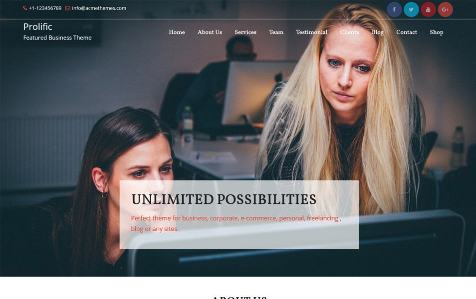Prolific Responsive WordPress Theme