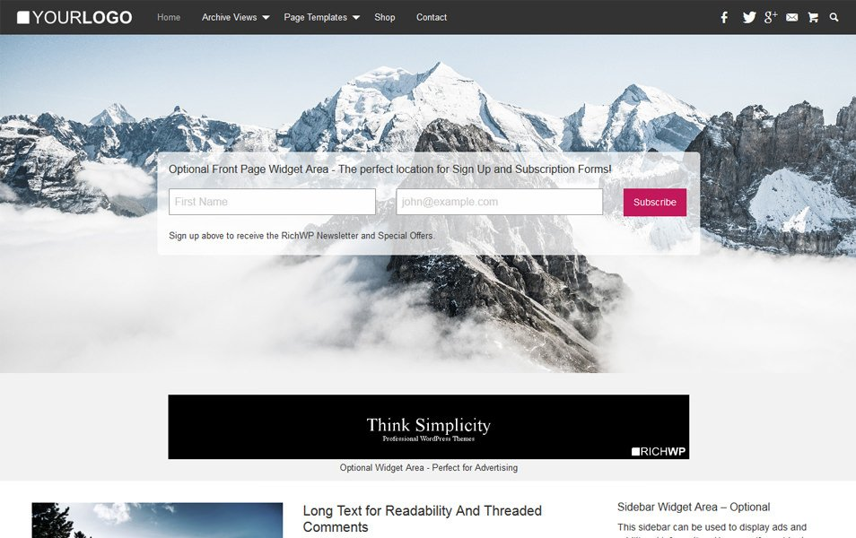 RichMasterXS Responsive WordPress Theme