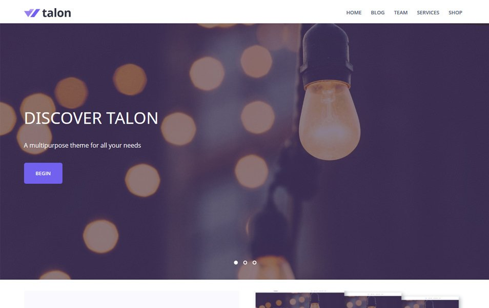 Talon Responsive WordPress Theme