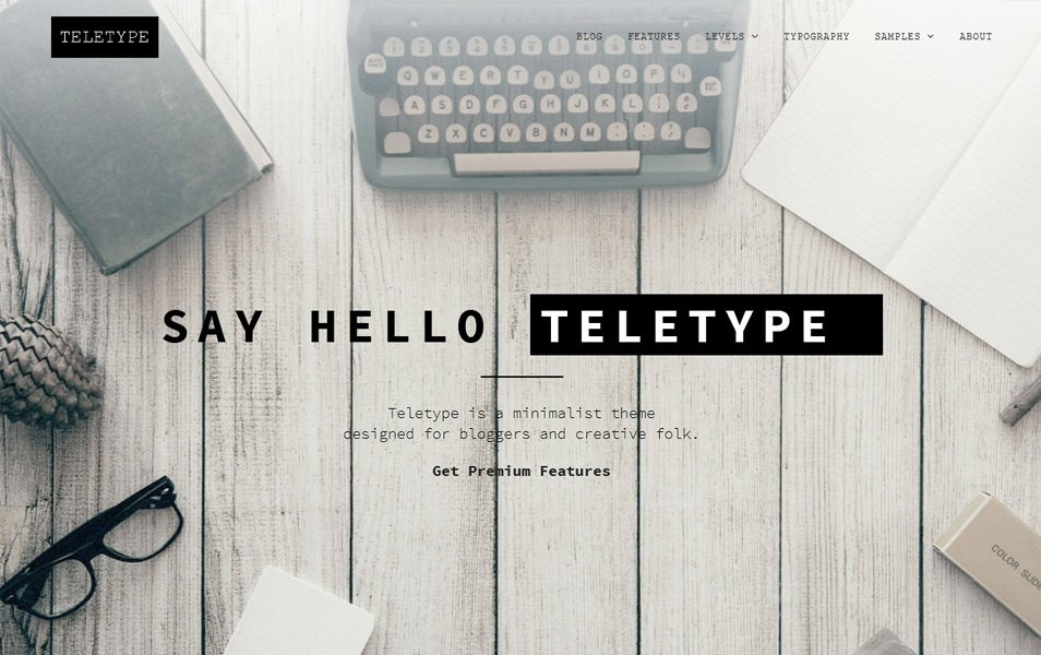 Teletype Responsive WordPress Theme